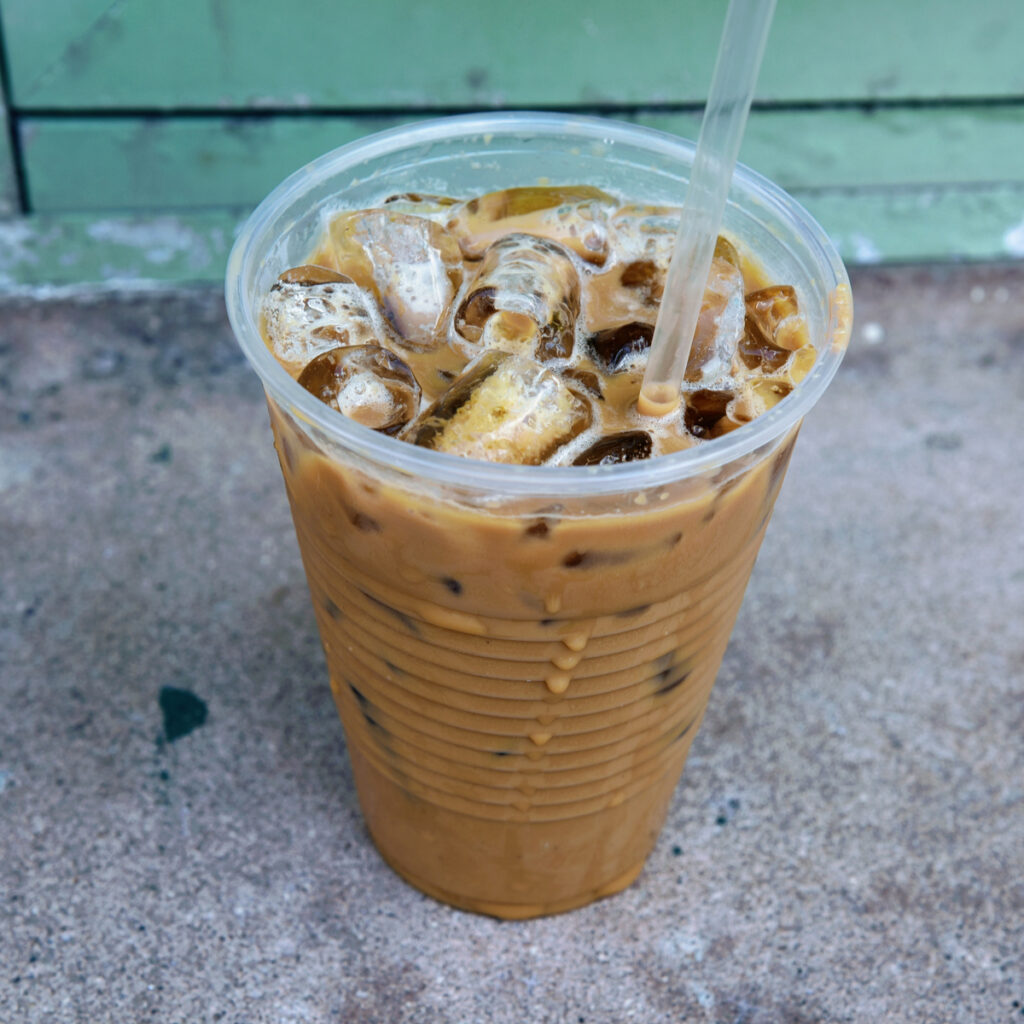 Iced Coffee To Go in Old San Juan, Puerto Rico