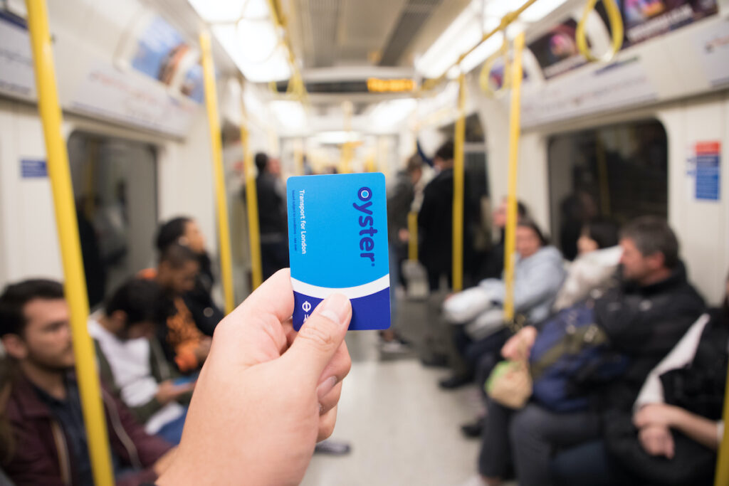 Oyster Card in London, UK.