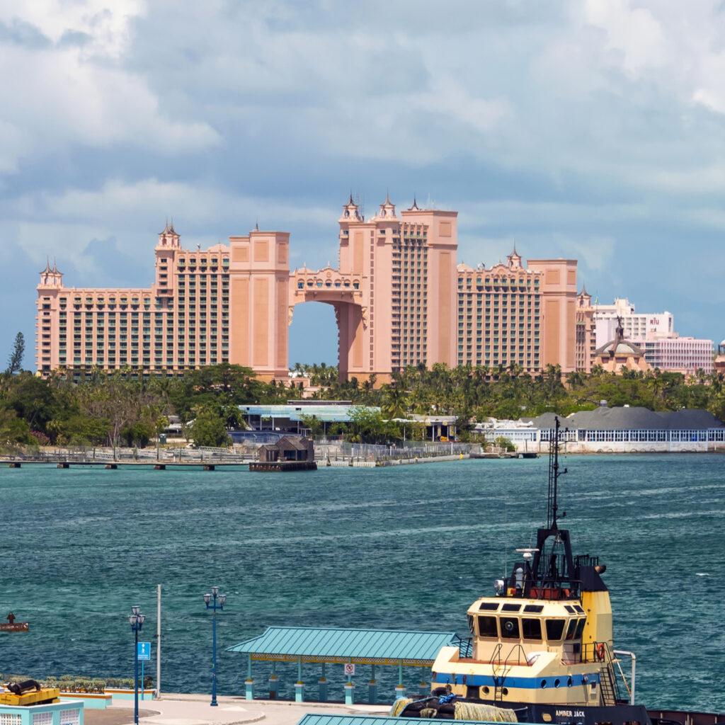 Atlantis hotel in Nassau, Bahamas.