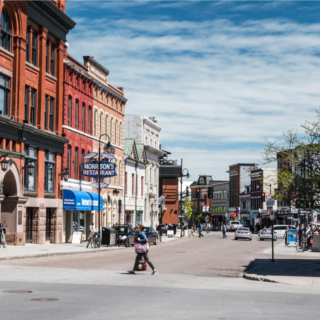Downtown Kingston, Ontario Canada.