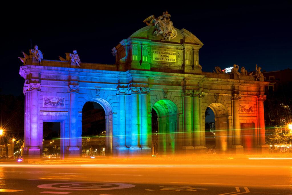 Alcala Gate in Madrid.