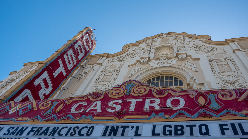 View of the Castro Theater in the Castro Distract of San Francisco