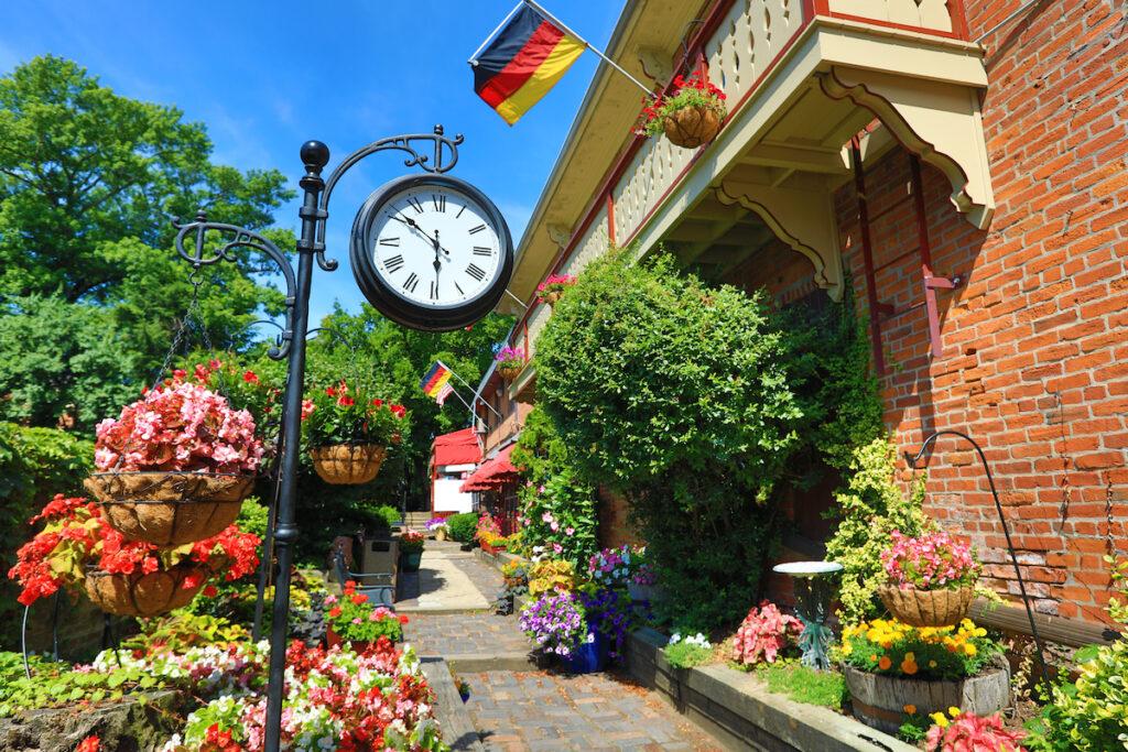 The gardens in the German Village area of Columbus, Ohio.