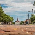 old downtown area of Cottonwood Falls, KS
