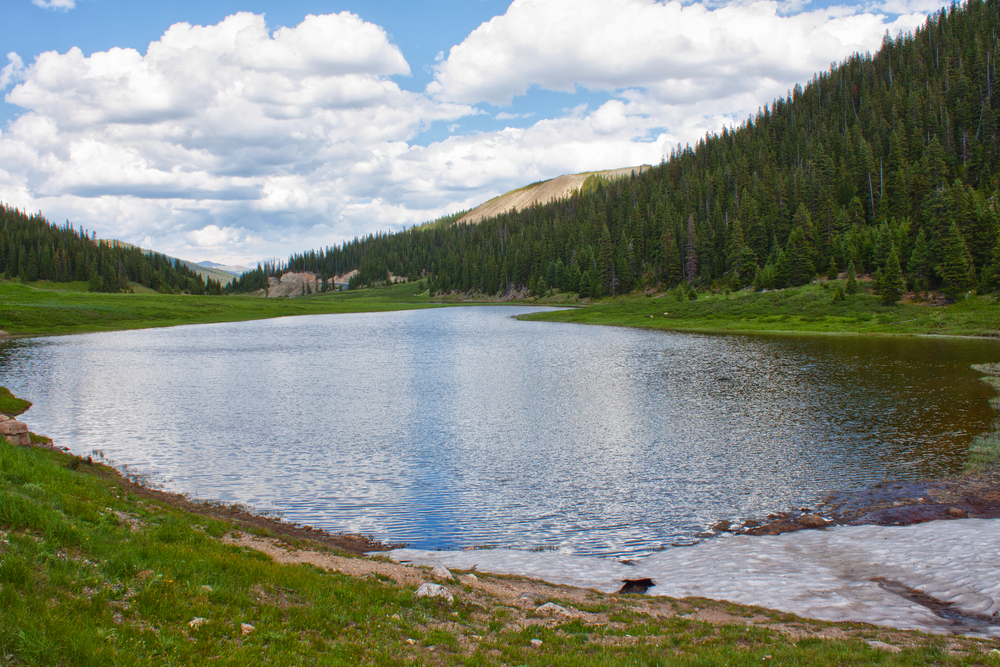 Lake Irene in Rocky Mountains, Colorado, USA in summer