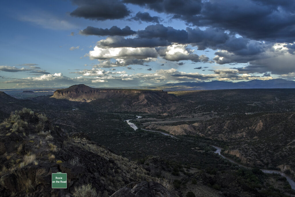 Rio Grande River from Overlook Park in New Mexico.