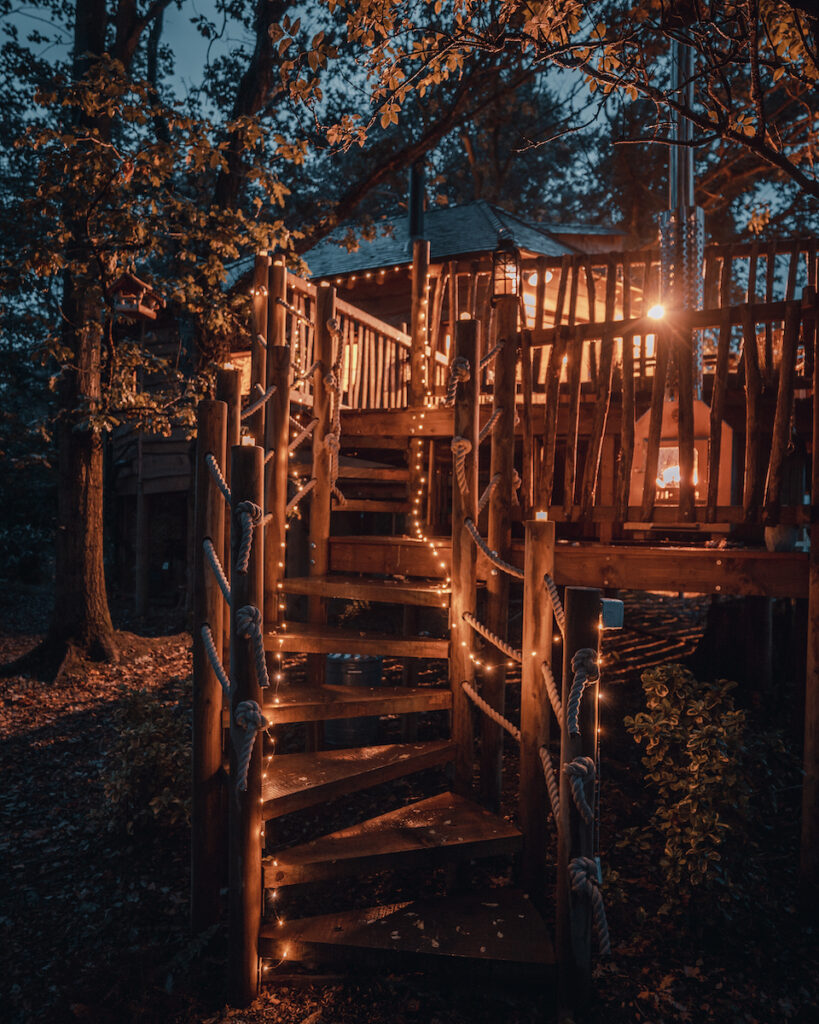 Outdoor lighting at Woodland Chase.