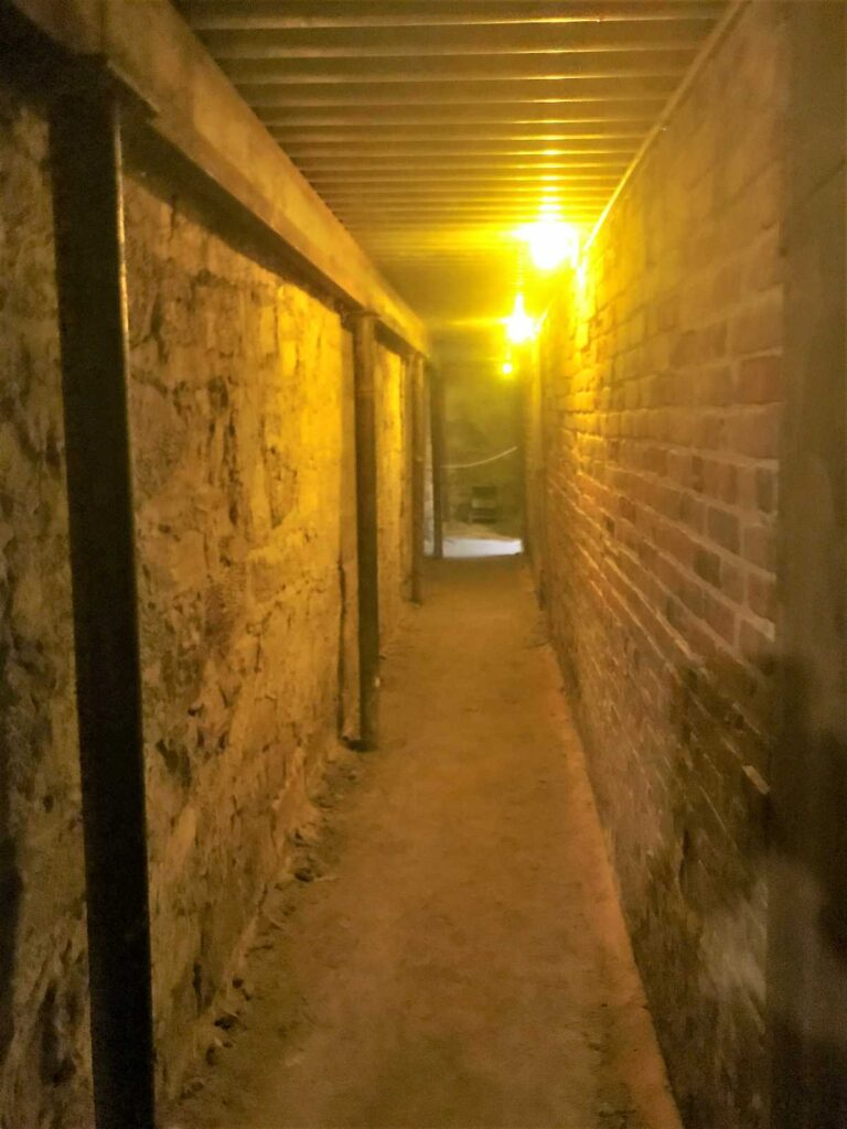 The Tunnels under the Ellinwood Emporium in Ellinwood, Kansas.