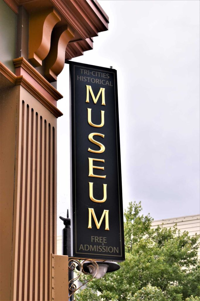 Tri-Cities Historical Museum Sign