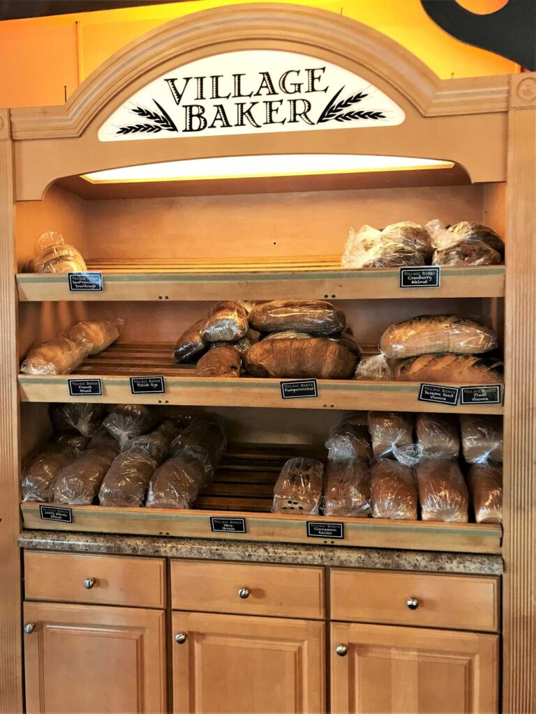 Freshly baked breads at The Village Baker Grand Haven, Michigan