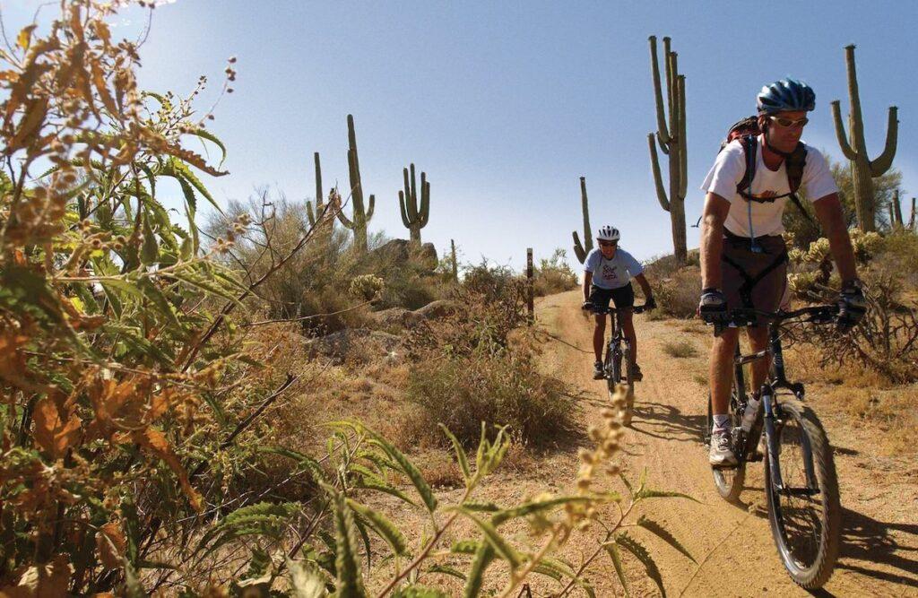 Mountain Biking in Scottsdale's McDowell Sonoran Preserve.