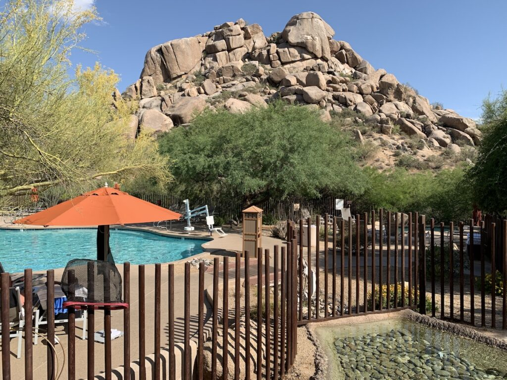 Hotel pool at Scottsdale, Arizona.