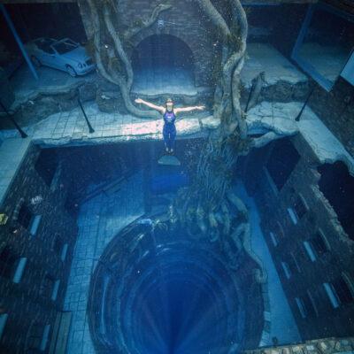 A diver at Deep Dive Dubai