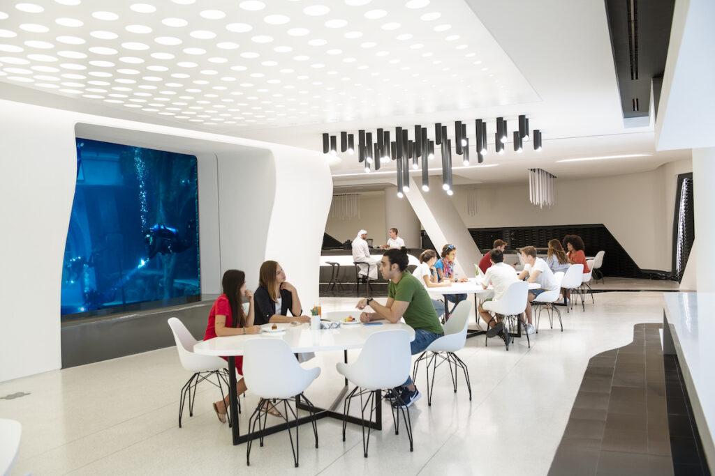 Dining at Deep Dive Dubai
