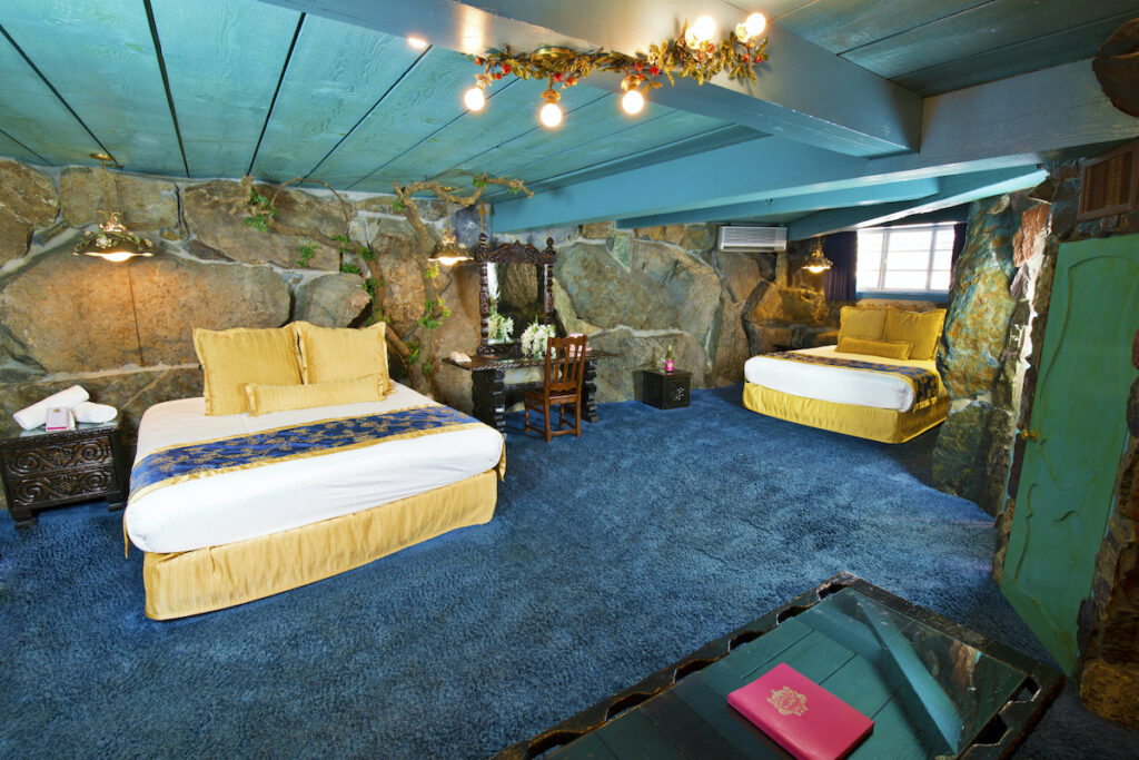 The Jungle Rock Room at the Madonna Inn.