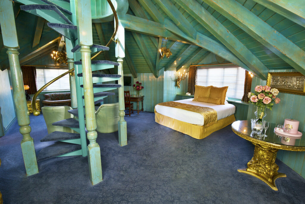 The Just Heaven Room at the Madonna Inn.