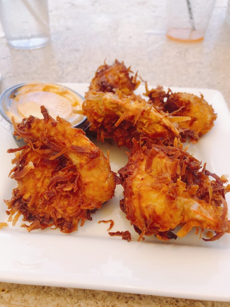 Coconut Shrimp at Robbie's Hungry Tarpon, Florida Keys restaurant.