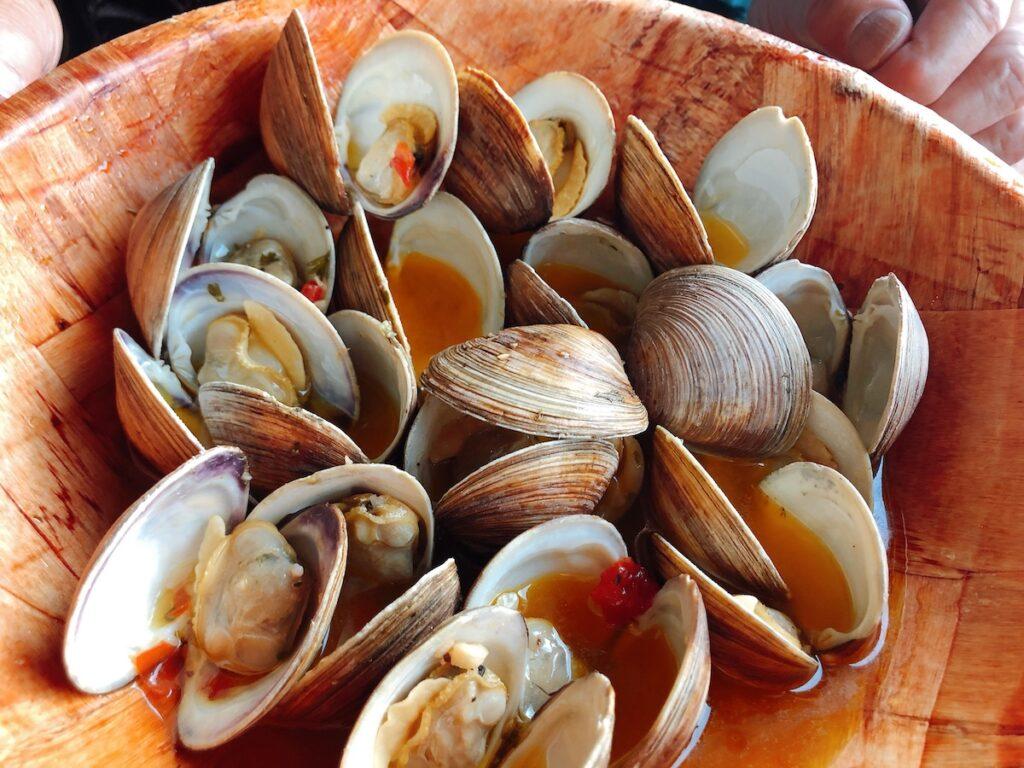 Clams at Half Shell Raw Bar, Florida Keys restaurant. Key West.