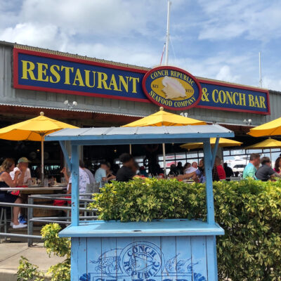 Conch Republic Seafood Company, Florida Keys restaurant.