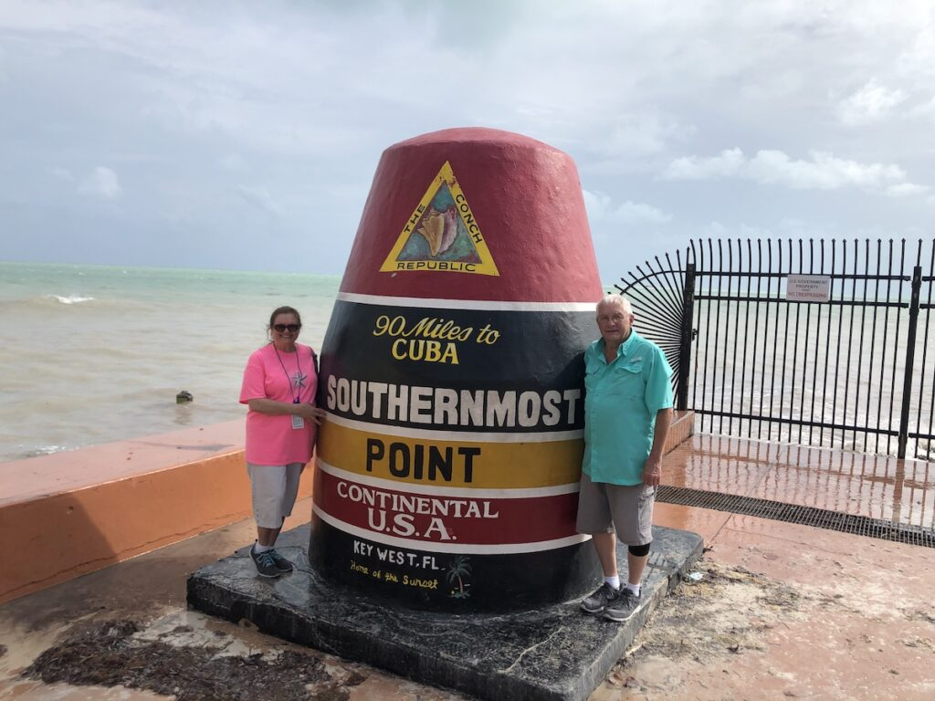 Southernmost point in the continental U.S. in Key West, Florida.