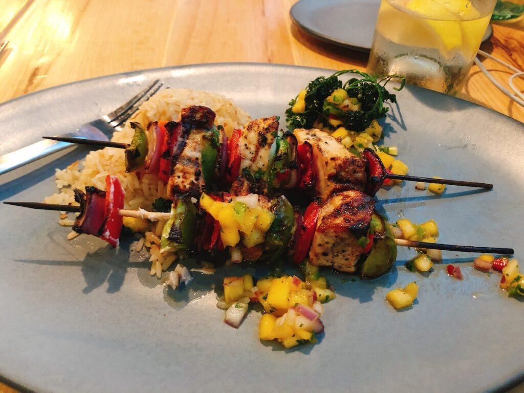 Chicken Kabob at Matt's Stock Island, Florida Keys restaurant.