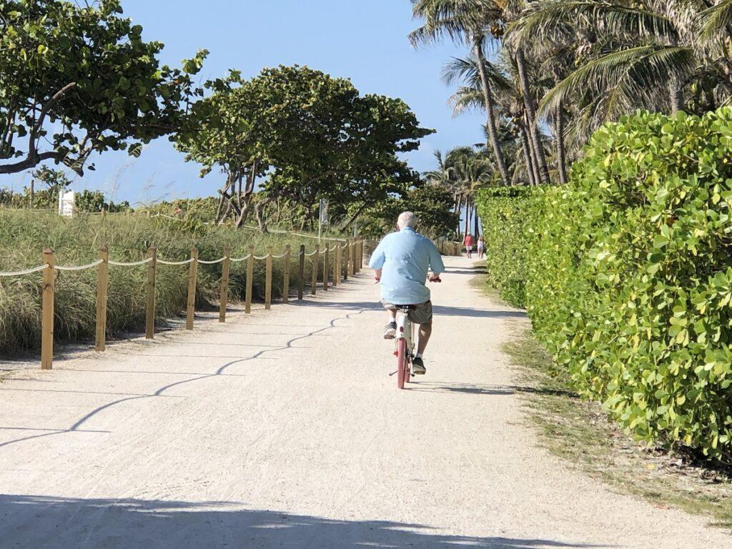 Biking in Surfside.
