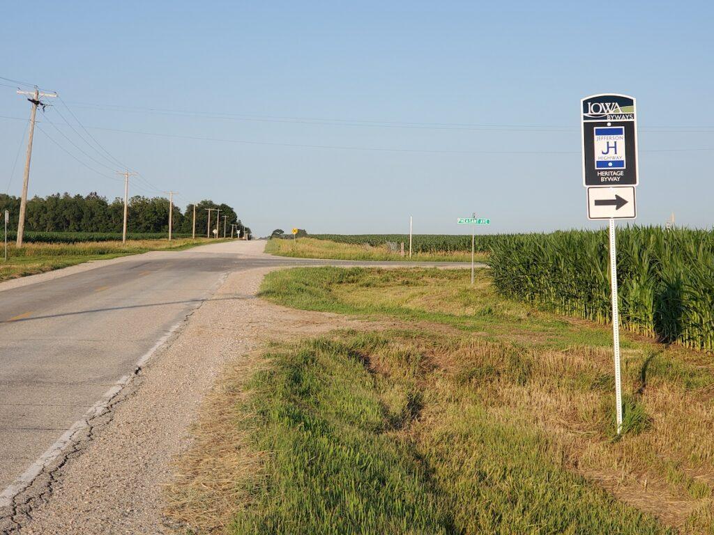Jefferson Highway in Iowa.