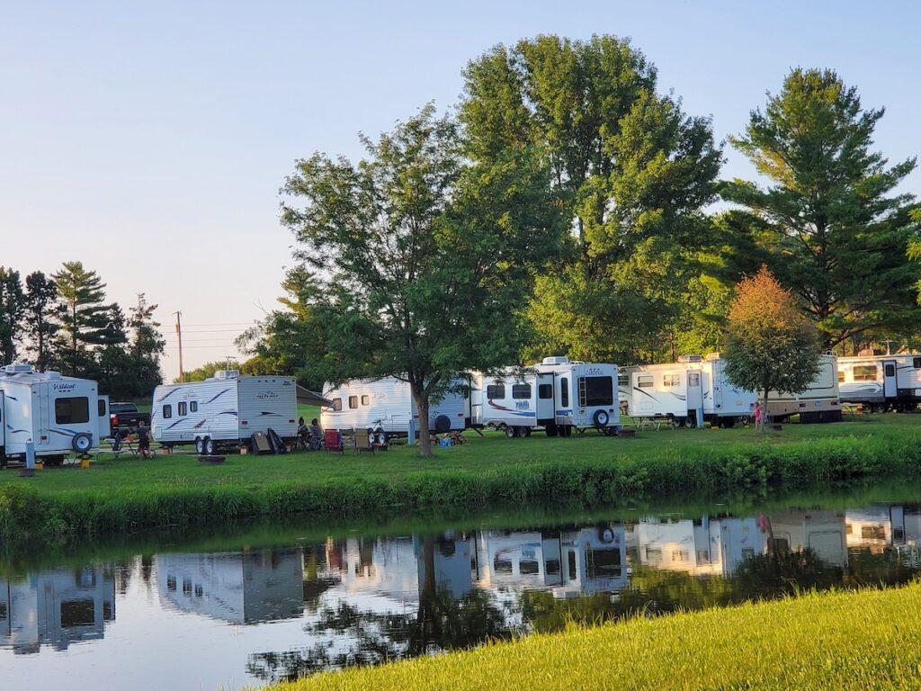 Camping in Linn Grove Park in Rockwell, Iowa