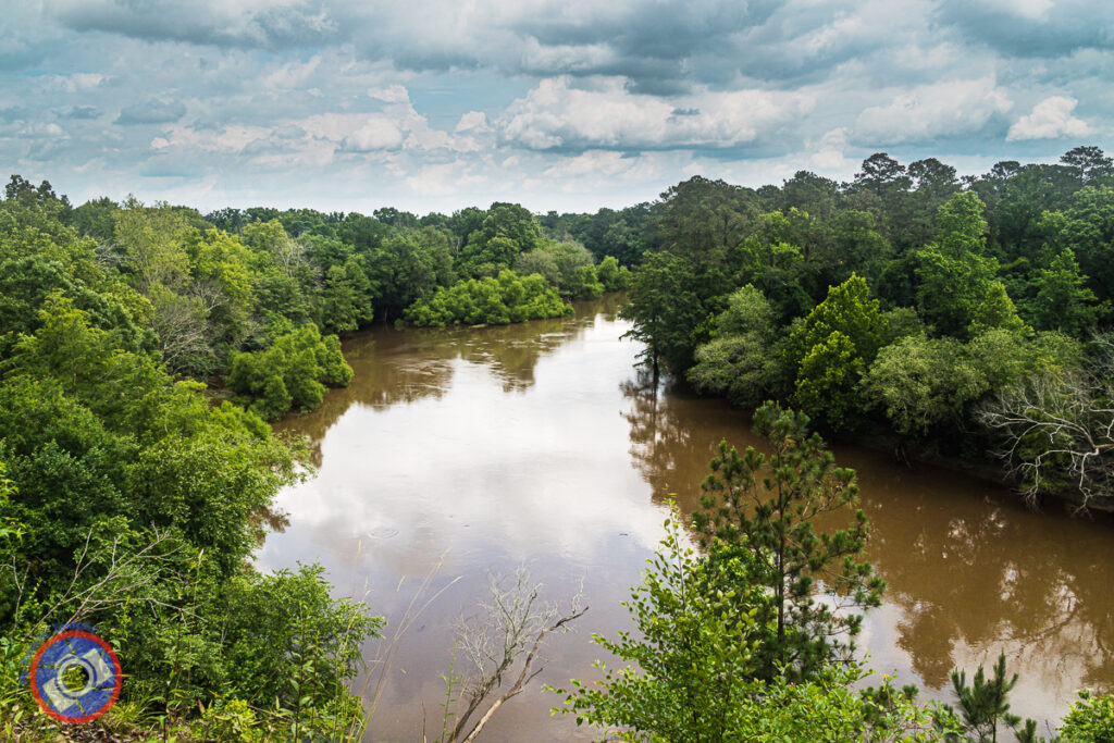 View of the Neuse River Flowing through Cliffs of the Neuse State Park.