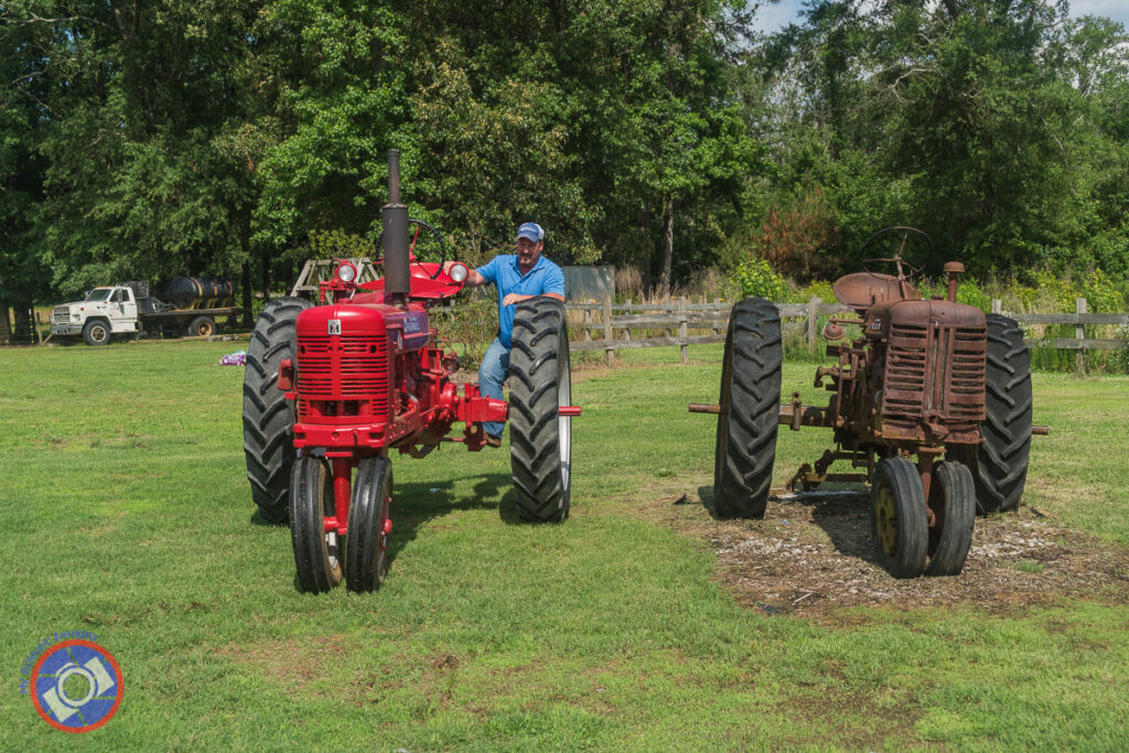 Two tractors on Display at Odom Farm.