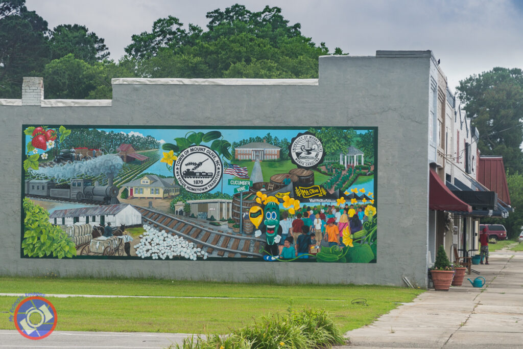 A pictorial history mosaic of Mount Olive.