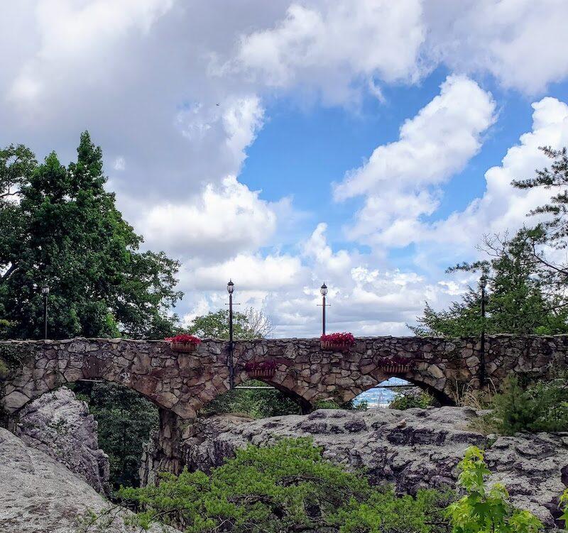 Stone bridge at Rock City Gardens Chattanooga
