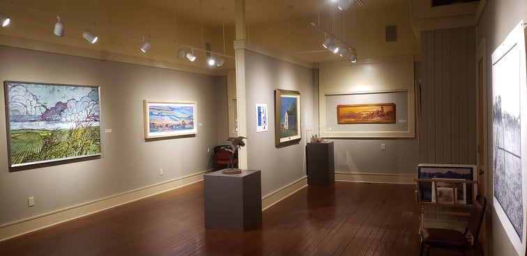Bone Creek Museum of Agrarian Art main gallery, David City, Nebraska.
