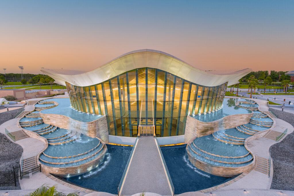The exterior of Deep Dive Dubai