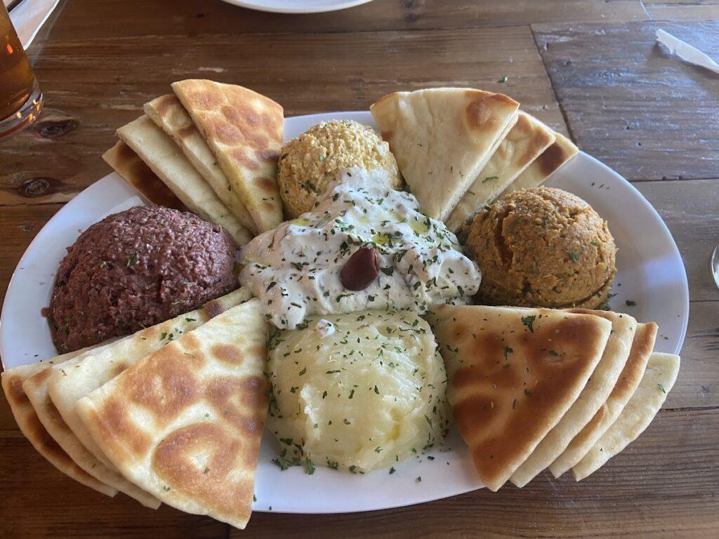 """""""Alifes"""" platter at Yamas Greek Eatery in Walla Walla, Washington."""