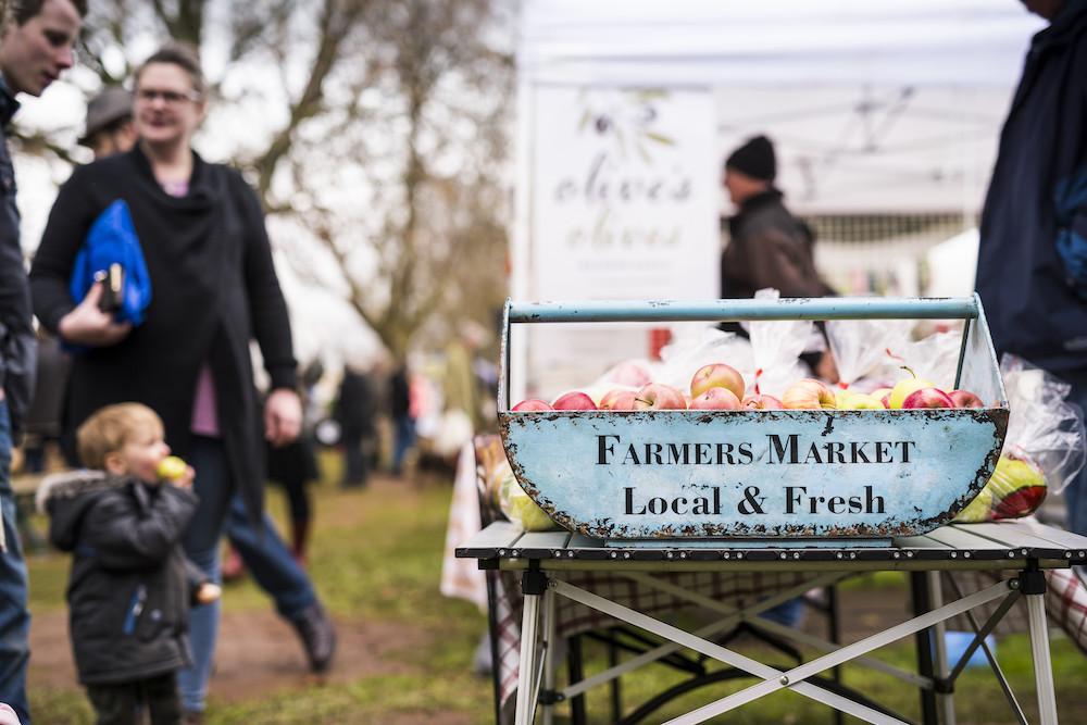 Regional country market, Kyneton, Victoria