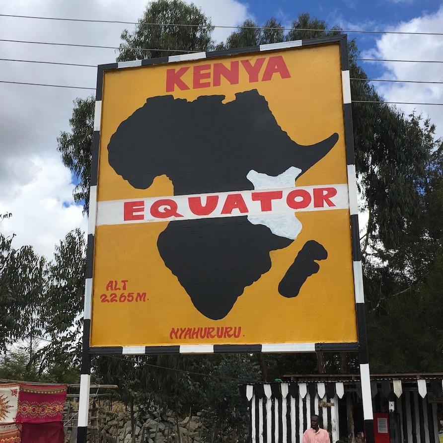 A sign in Kenya.