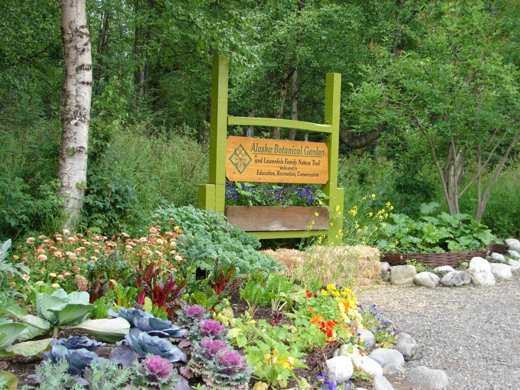 Alaska Botanical Garden Entrance in Anchorage, Alaska