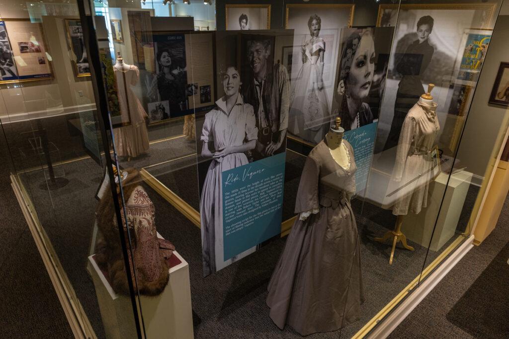 Costume display Ava Gardner Museum in Smithfield, NC.