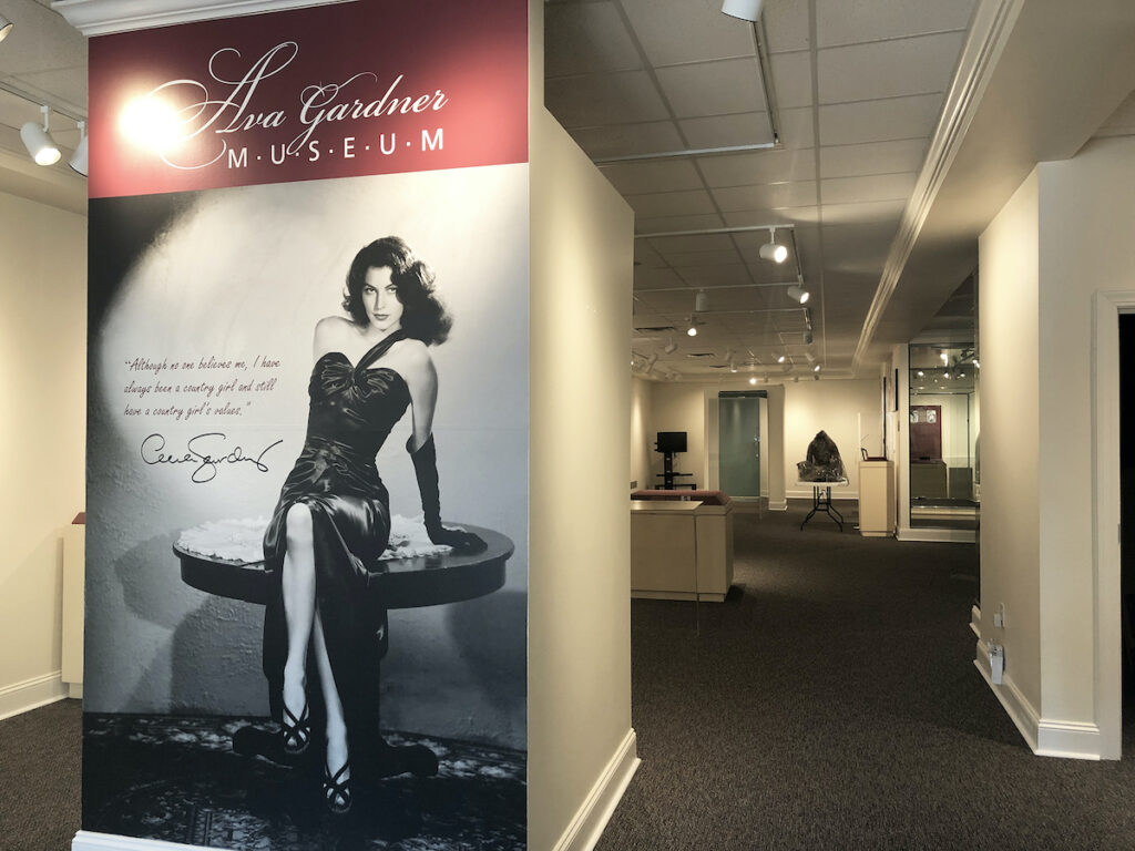 Entrance to Ava Gardner Museum in Smithfield, NC.