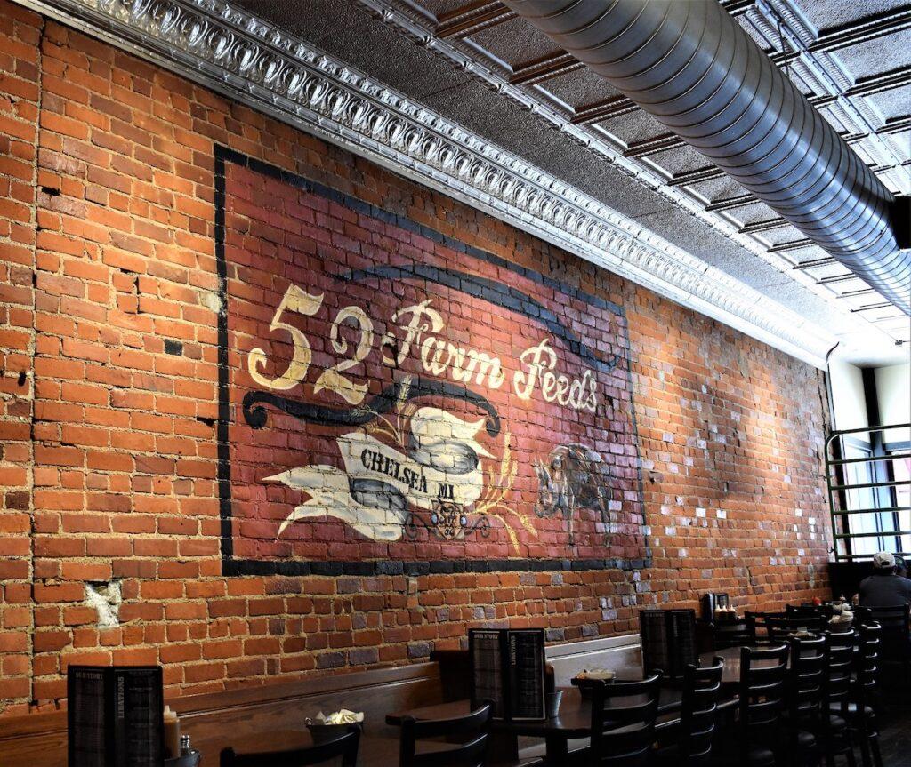 BBQ 52 Restaurant Mural in Chelsea, Michigan.