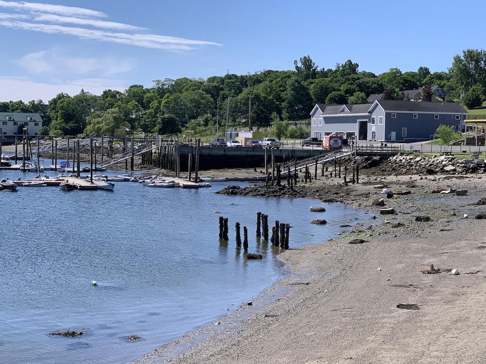 Belfast Harbor coastline in Belfast, Maine