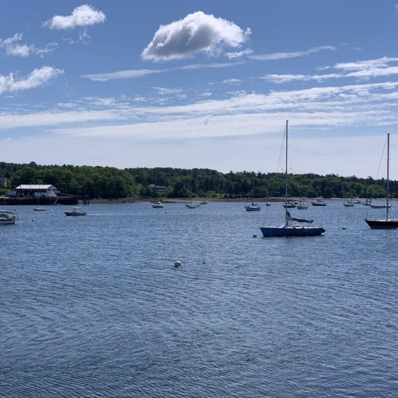 Boats in Belfast Harbor Belfast, Maine