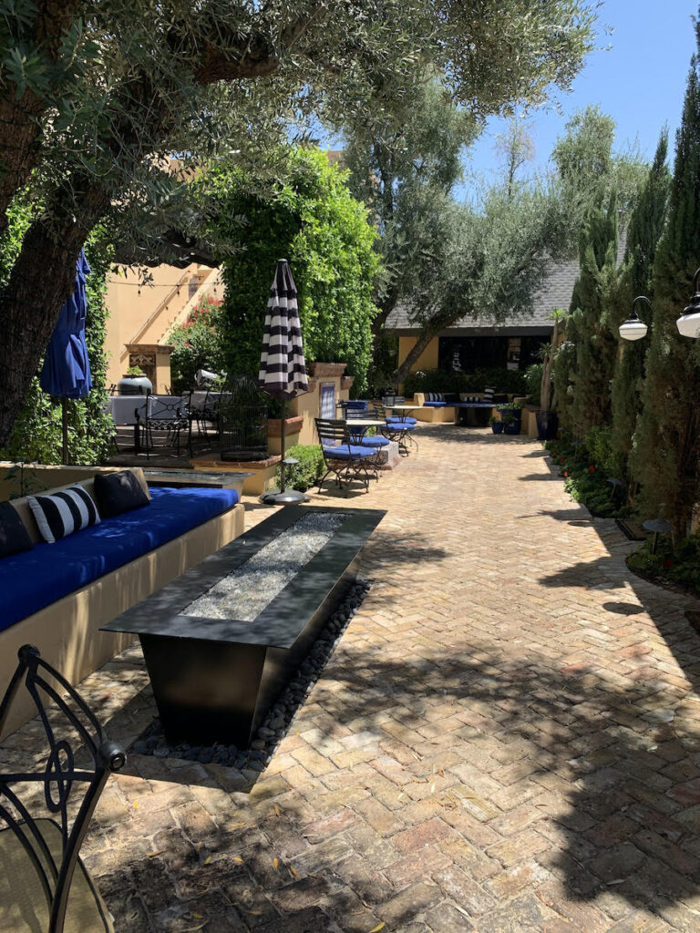 Patio and the Bespoke Inn in Old Town Scottdale, Arizona.