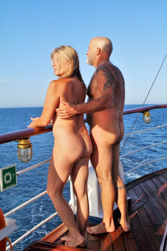Couples naturism cruise.
