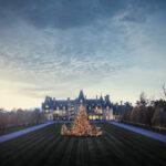 The Biltmore Estate at dusk