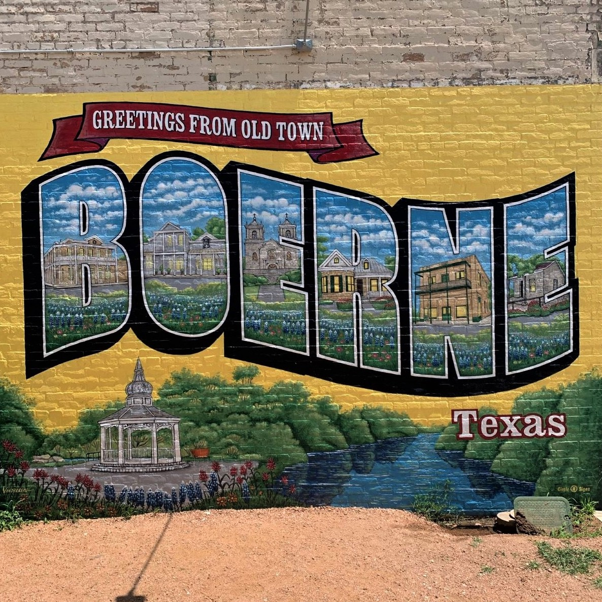Sign for Boerne, Texas