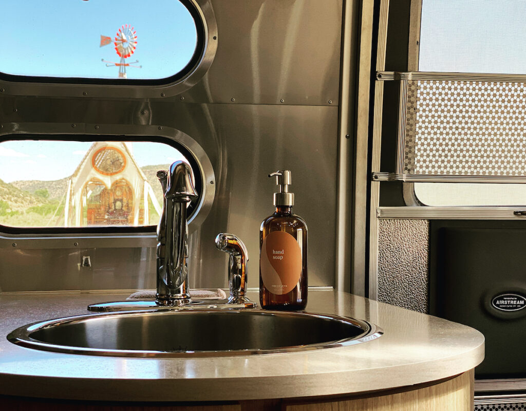 Airstream with a view at Camp V.