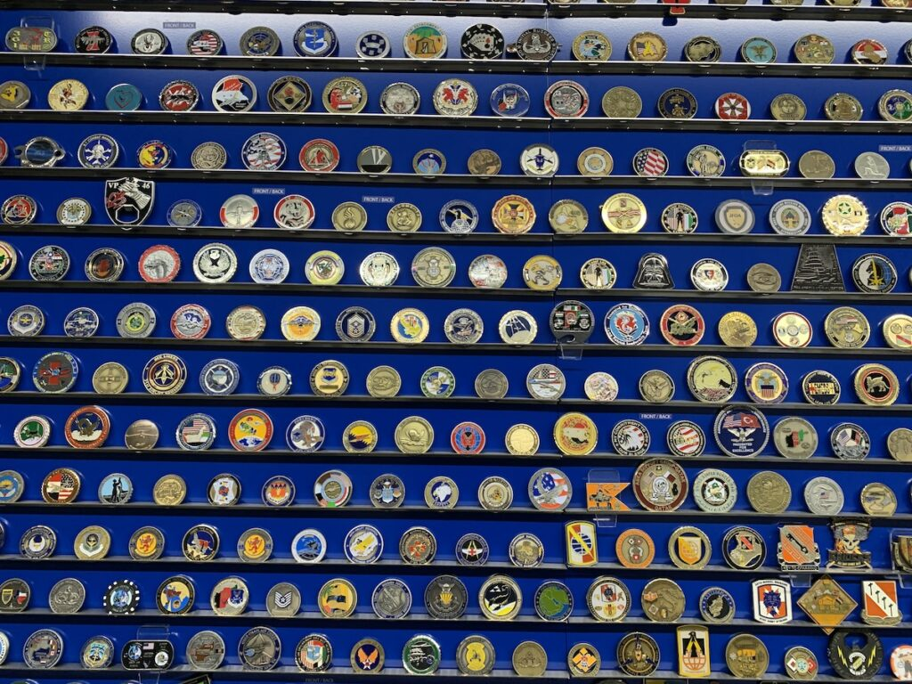 Maine Troop Greeters' Challenge Coin Collection.