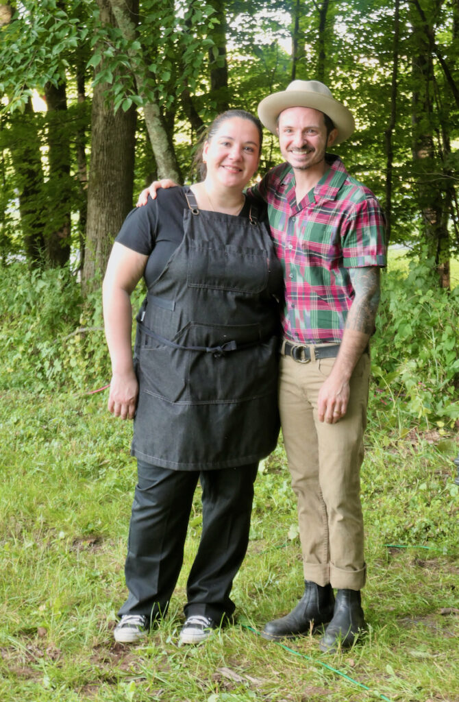Chef Camille Rodriguez and Shawn Lang at Terrain and Table Dinner.